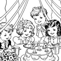 Martha Birthday Party Coloring Pages