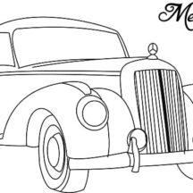 Mercedes Classic Car Coloring Pages