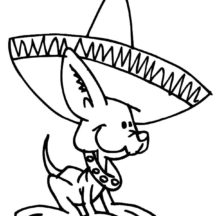 Mexican Chihuahua Dog Coloring Pages