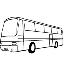 Modern City Bus Coloring Pages