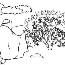 Moses Burning Bush Coloring Pages