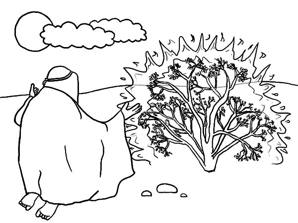 Moses Burning Bush Coloring Pages