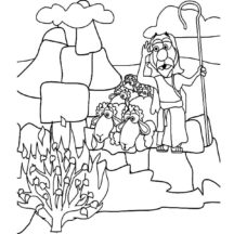Moses and the Burning Bush Coloring Pages