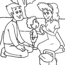 My First Family Picnic Coloring Pages