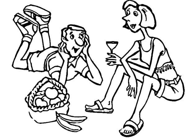My Parent Family Picnic Coloring Pages