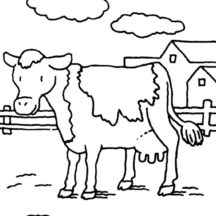 My Uncle Dairy Cow Coloring Pages