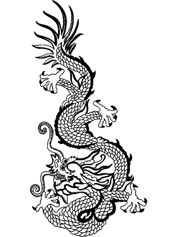 Myth Animal Chinese Dragon Coloring Pages