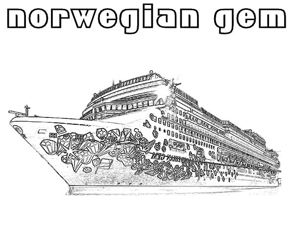 Norwegian Gem Cruise Ship Coloring Pages