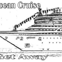 Ocean Cruise Ship Get Away Coloring Pages