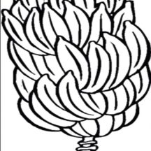 One Whole Banana Bunch Coloring Pages