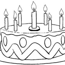 Picture of Birthday Cake Coloring Pages