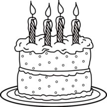 Picture of Birthday Candle on Cake Coloring Pages