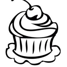Picture of Cupcakes Coloring Pages