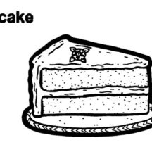 Piece of Tasty Chocolate Cake Coloring Pages