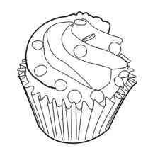 Plush Cupcakes Coloring Pages