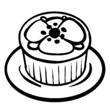Poppy Theme Cupcakes Coloring Pages