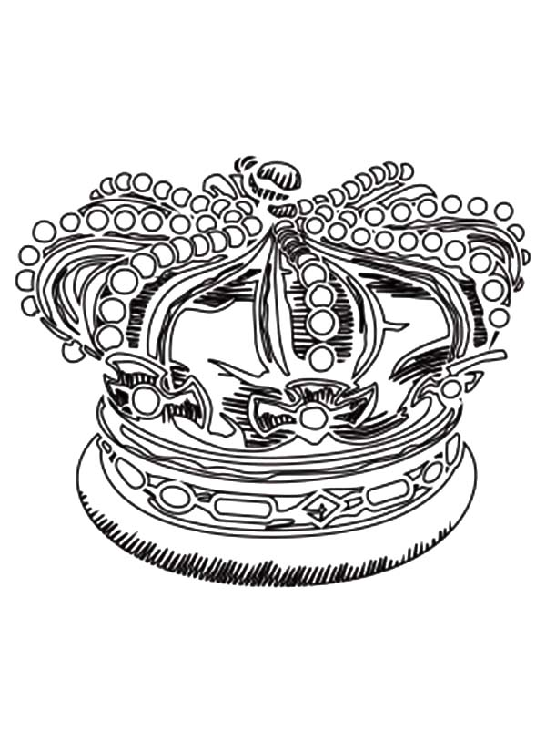 Precious Royal Crown Coloring Pages