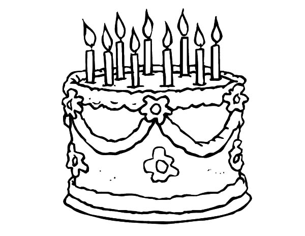 Preparing Birthday Cake for Party Coloring Pages
