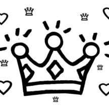 Preschool Kids Drawing Crown Coloring Pages