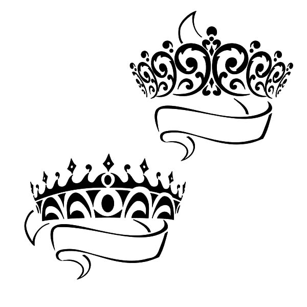 Prince and Princess Crown Coloring Pages