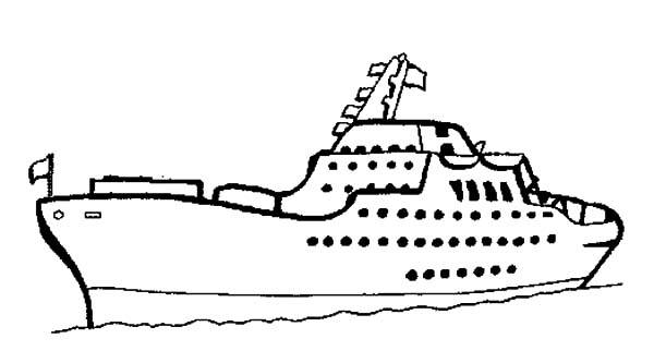 Private Cruise Ship Coloring Pages