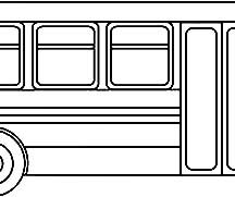 Public Transporation City Bus Coloring Pages