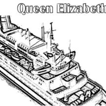 Queen Elizabeth II Cruise Ship Coloring Pages
