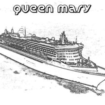 Queen Mary Cruise Ship Coloring Pages