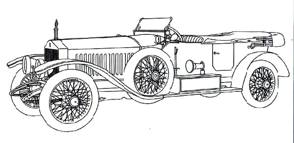 Roll Royce Continental Classic Car Coloring Pages - NetArt