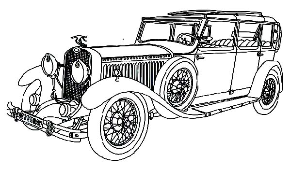 Royal Family Classic Car Coloring Pages