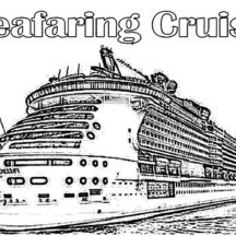 Seafaring Cruise Ship Coloring Pages