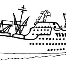 Set Sailed with Cruise Ship Coloring Pages