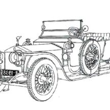 Silver Ghost Rolls Royce Classic Car Coloring Pages