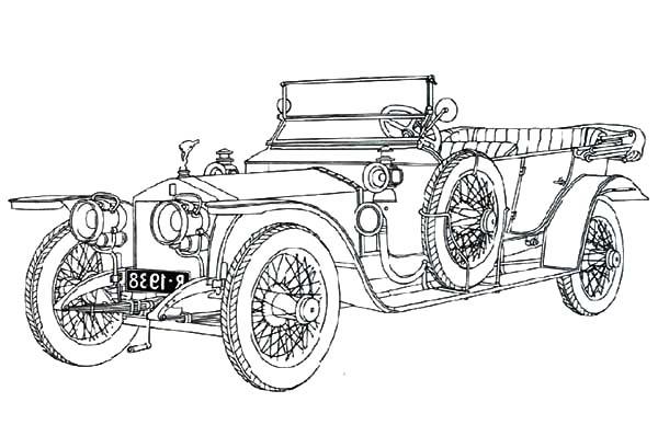 vintage car coloring pages - photo#29
