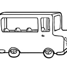 Small City Bus Coloring Pages