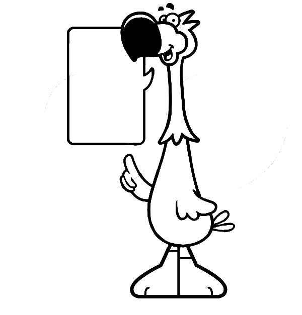 Talking Dodo Bird Coloring Pages