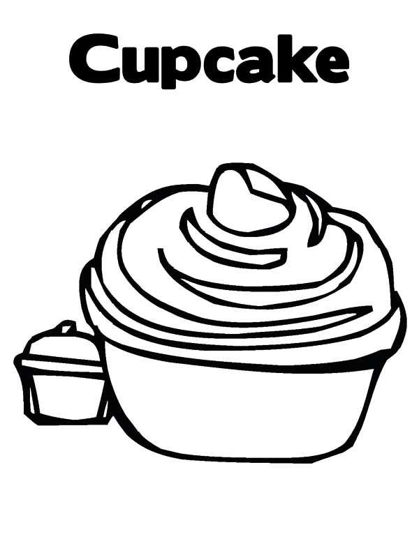 Tasty Cupcakes Coloring Pages