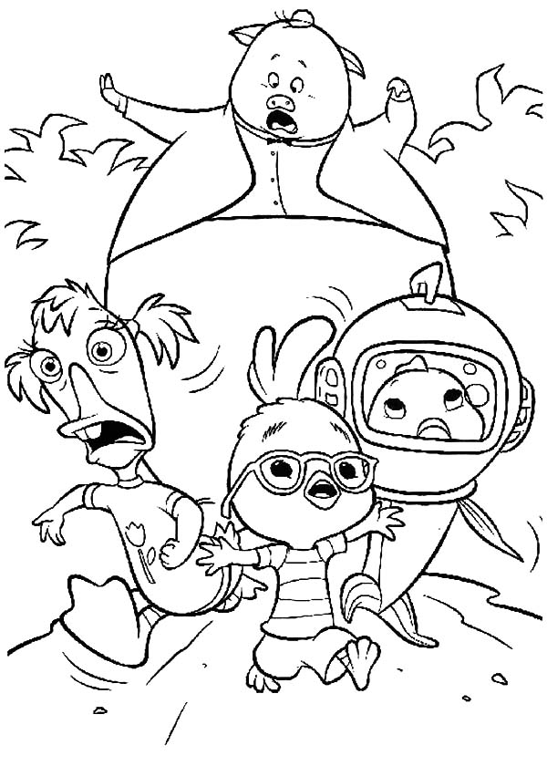 The Adventure of Chicken Little and Friends Coloring Pages