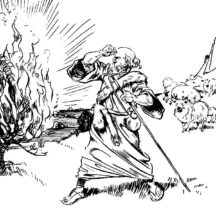 The Book of Exodus Moses Burning Bush Coloring Pages
