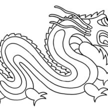 The Legend of Chinese Dragon Coloring Pages