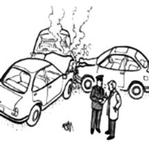 Three Cars Crashed Each Other Coloring Pages