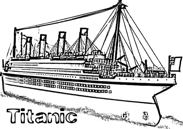 titanic cruise ship coloring pages netart