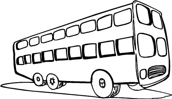 Two Level Tourist City Bus Coloring Pages