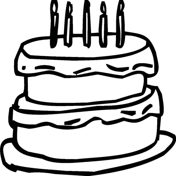 Two Story Chocolate Cake Coloring Pages