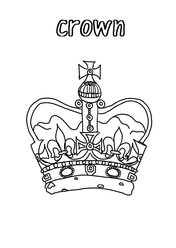 United Kingdom Crown Coloring Pages