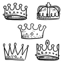 Various Type of Crown Coloring Pages