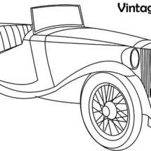 Vintage Classic Car Coloring Pages