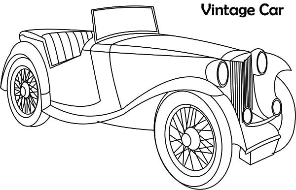 Vintage Classic Car Coloring Pages
