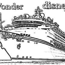 Wonder Disney Cruise Ship Coloring Pages