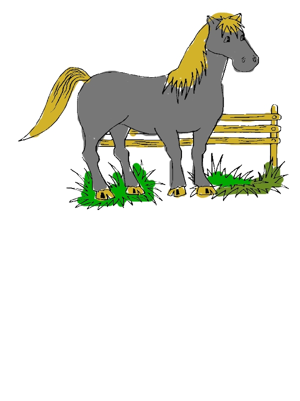 A Horse Rest After Running in Horses Coloring Page by years old Lisa C  Lamarche
